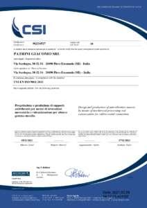 ISO 9001:2015 - Patrini Giacomo